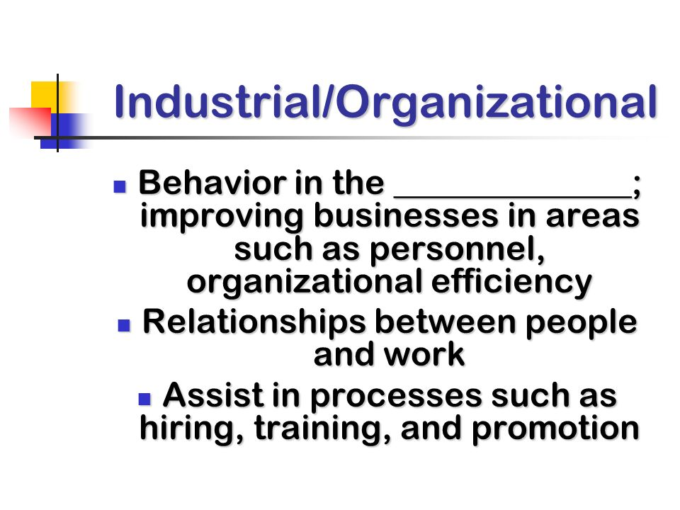 Industrial/Organizational