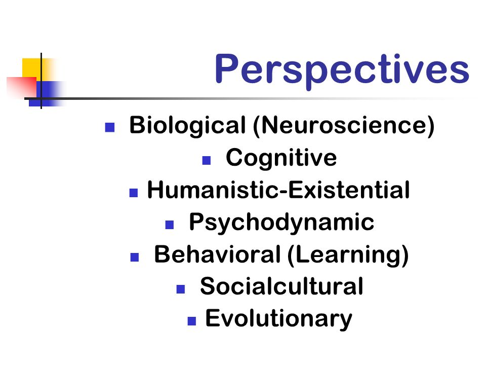 Perspectives Biological (Neuroscience) Cognitive