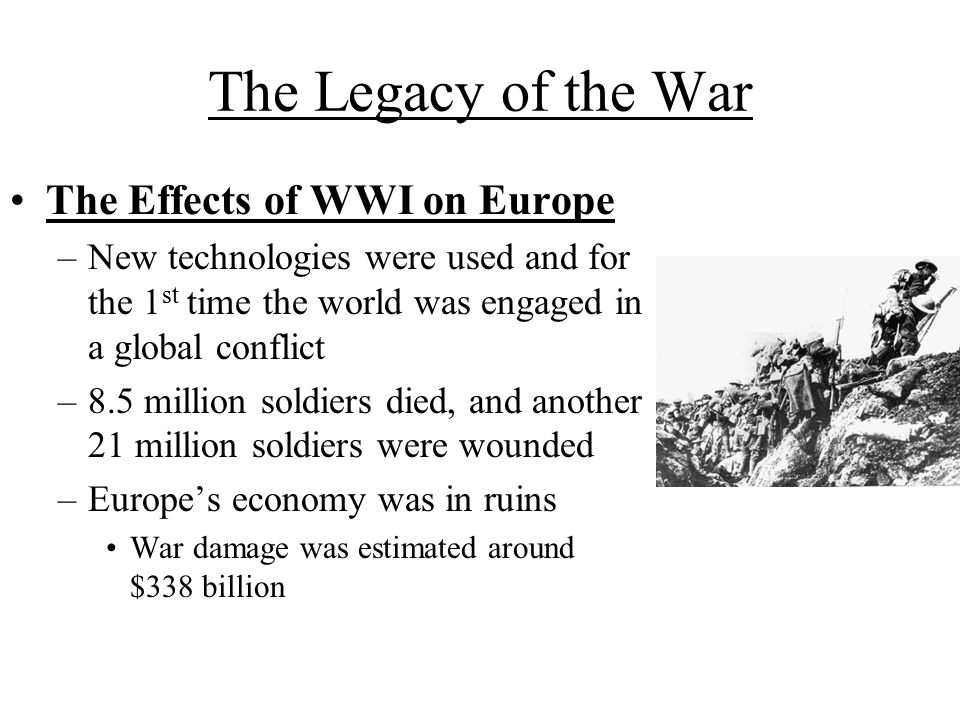 an analysis of the global effects of world war one 14 reasons wwi happened (and four things that could have stopped it)  by  the 19th century, european nations were competing to amass global  following  a horrifying preview with the summary execution of the former royal family in.
