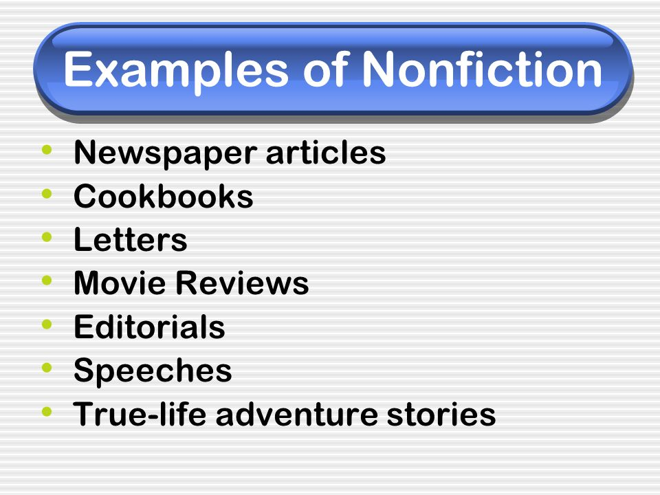 Examples of Nonfiction