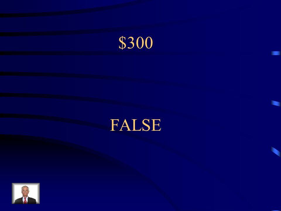 $300 FALSE