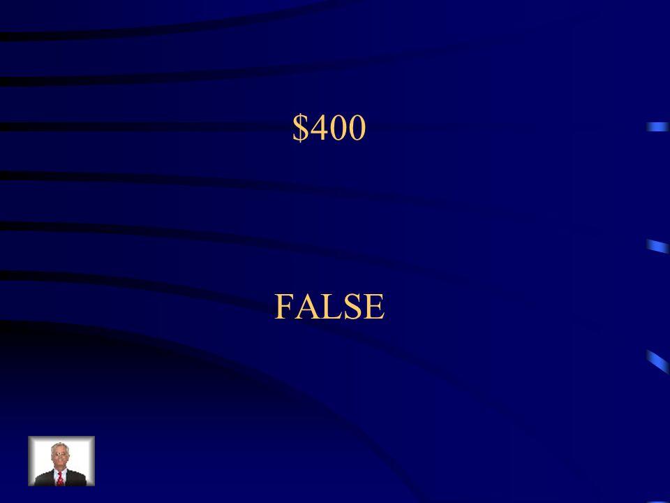 $400 FALSE
