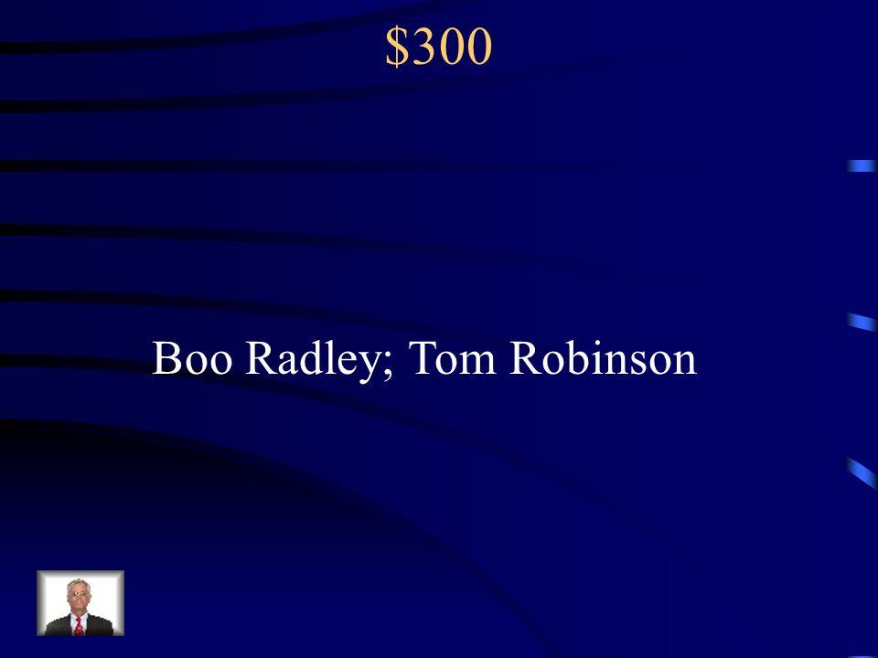 Boo Radley; Tom Robinson