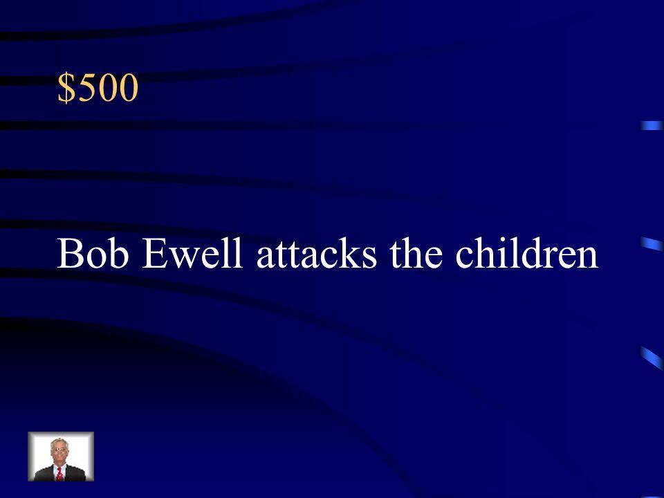 Bob Ewell attacks the children