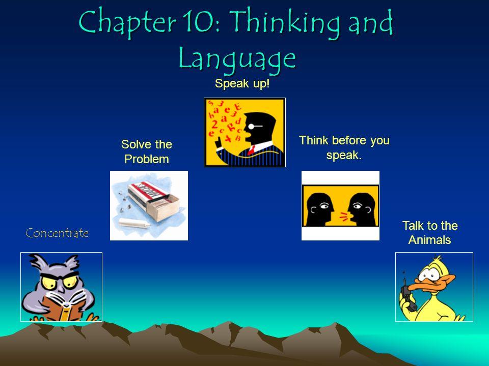 Chapter 10: Thinking and Language
