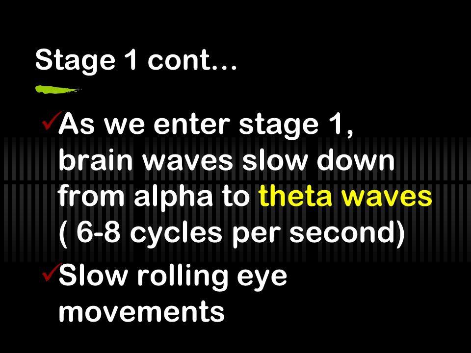 Slow rolling eye movements