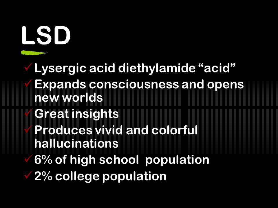 LSD Lysergic acid diethylamide acid