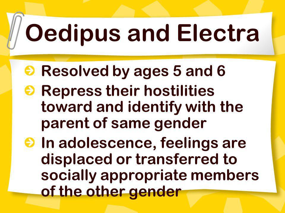 Oedipus and Electra Resolved by ages 5 and 6