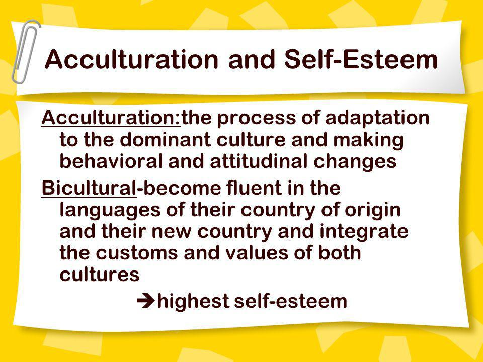Acculturation and Self-Esteem
