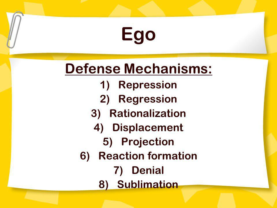 Ego Defense Mechanisms: Repression Regression Rationalization