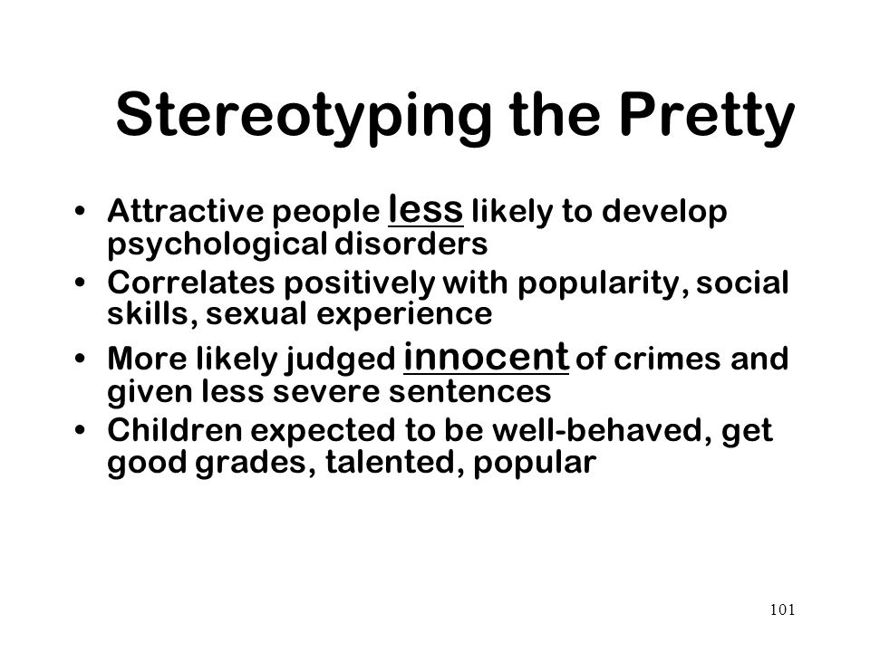 Stereotyping the Pretty