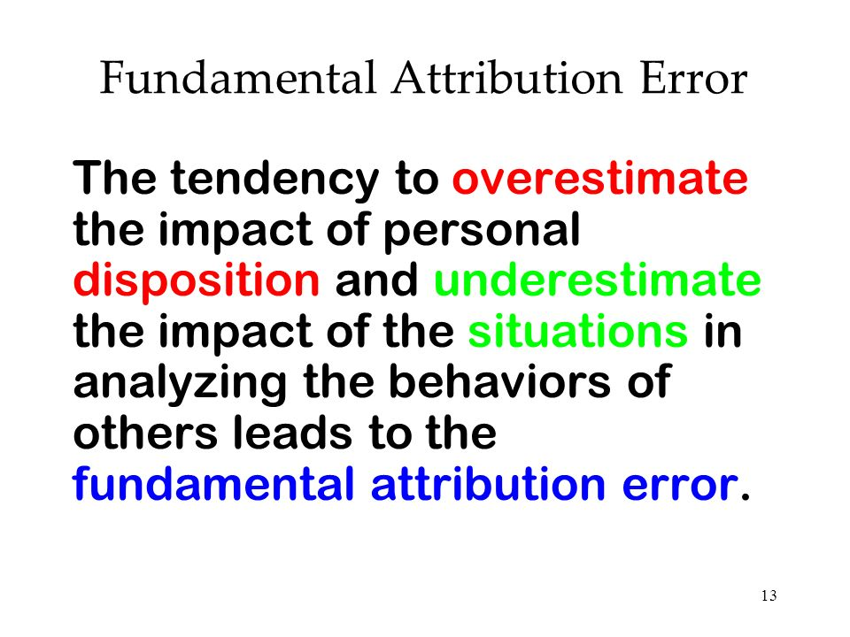 Fundamental Attribution Error