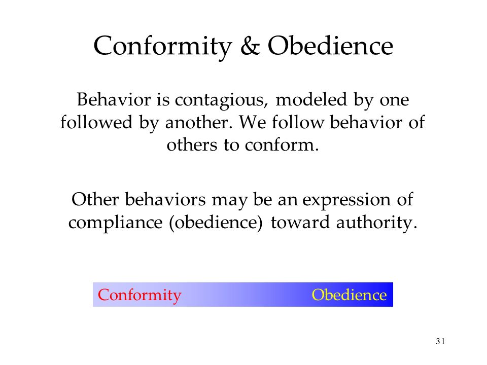 conformity compliance obedience Factors influencing conformity and obedience conformity: three reasons that influence conformity are the ones i am about to list below: compliance with parties.