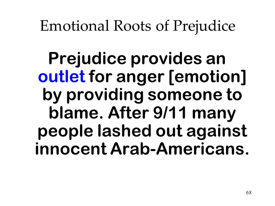 Emotional Roots of Prejudice