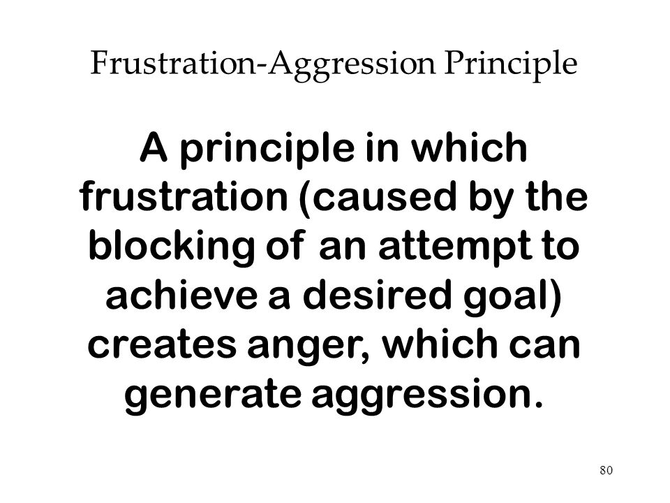 Frustration-Aggression Principle