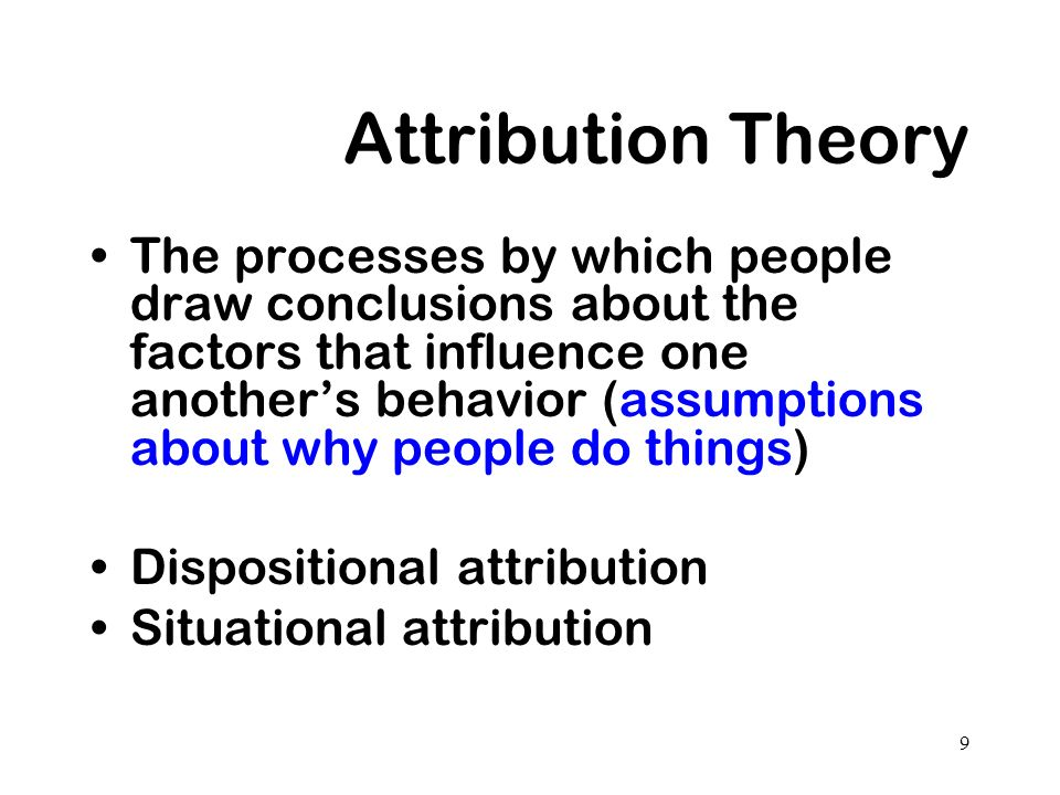 what actually a attribution hypothesis do