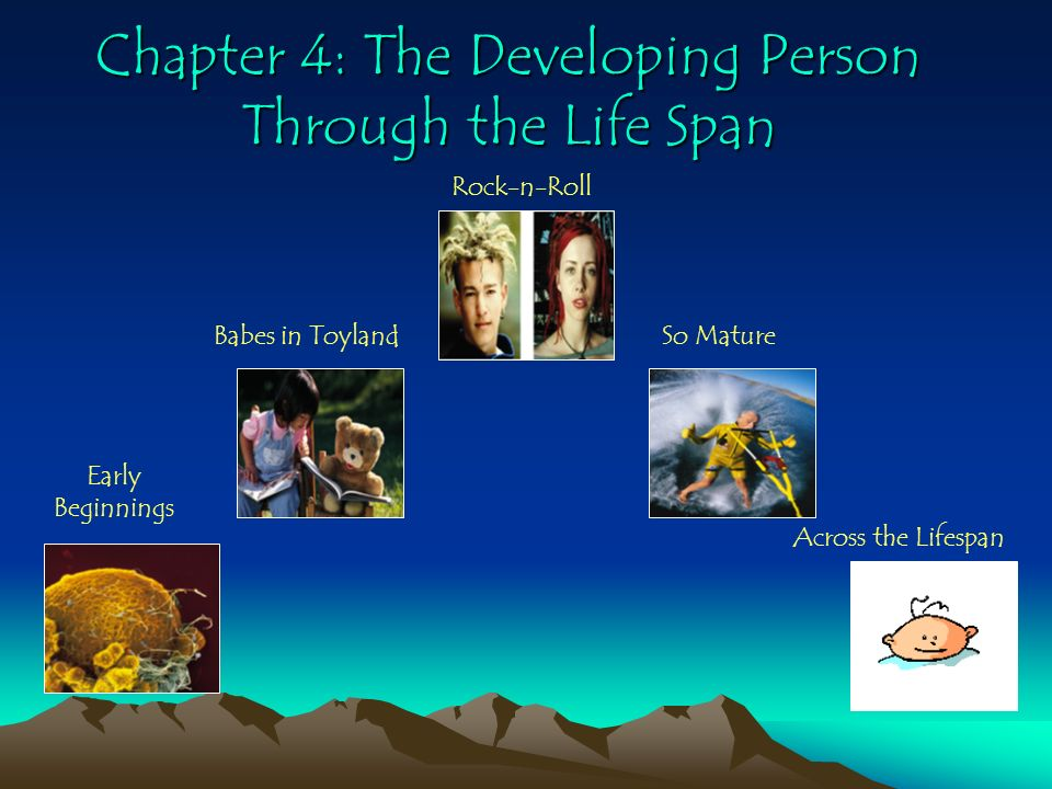 Chapter 4: The Developing Person Through the Life Span