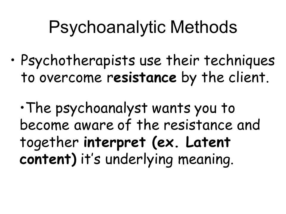 Psychoanalytic Methods
