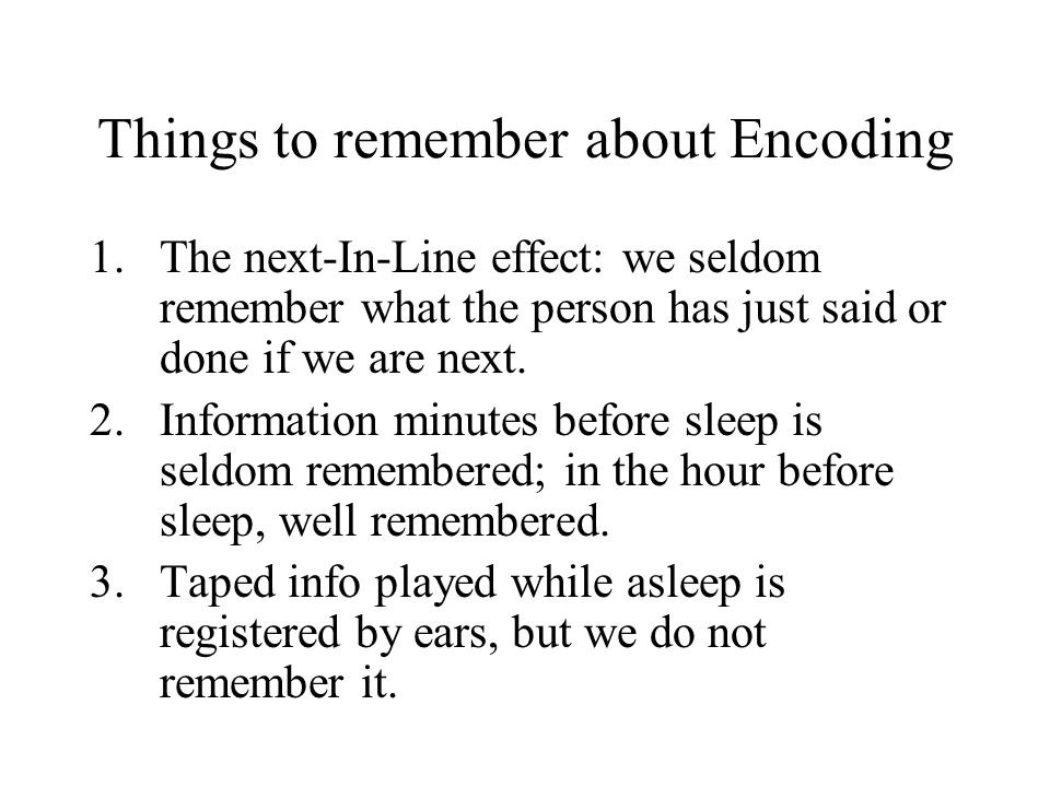 Things to remember about Encoding