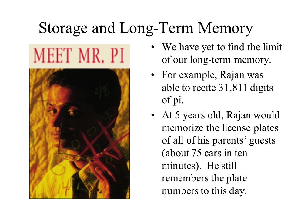 Storage and Long-Term Memory