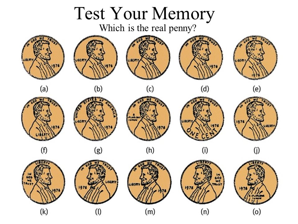 Test Your Memory Which is the real penny