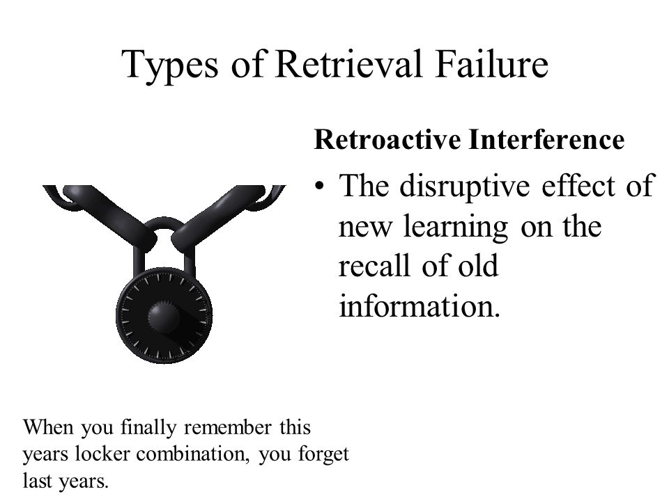 Types of Retrieval Failure