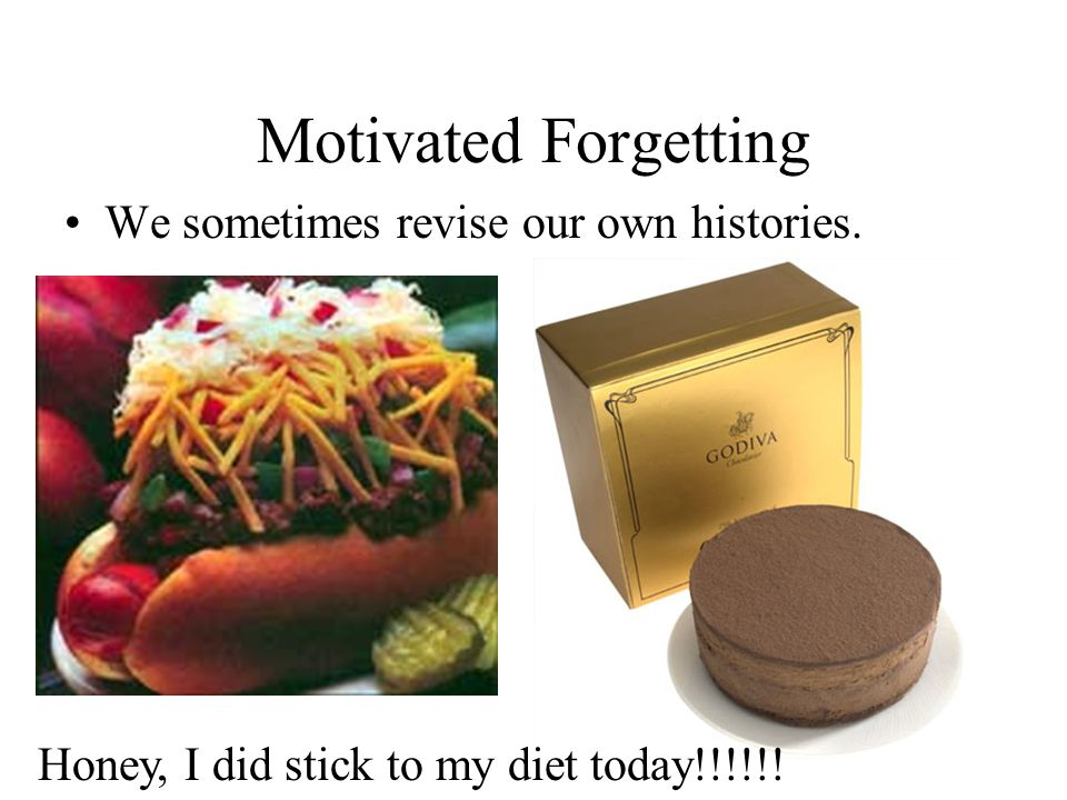 Motivated Forgetting We sometimes revise our own histories.