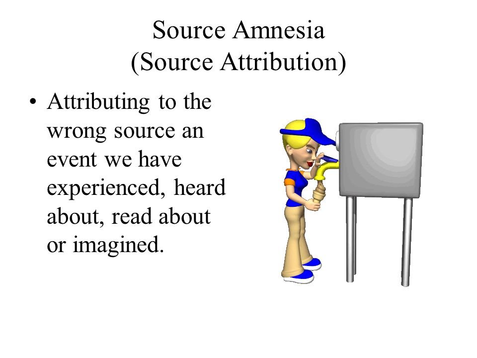 Source Amnesia (Source Attribution)