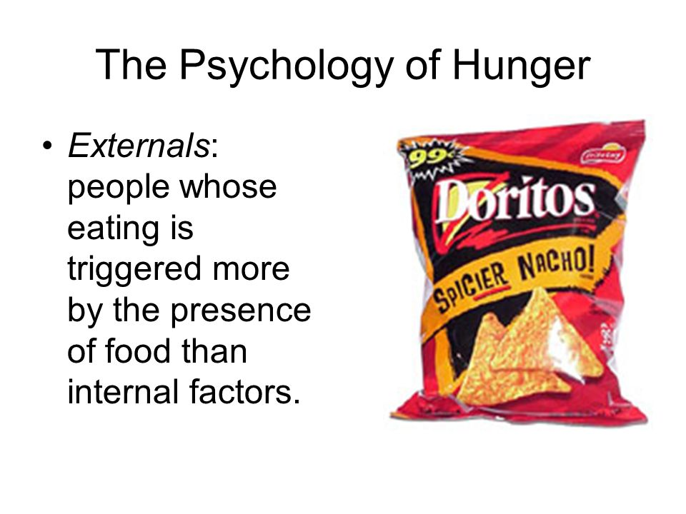 The Psychology of Hunger
