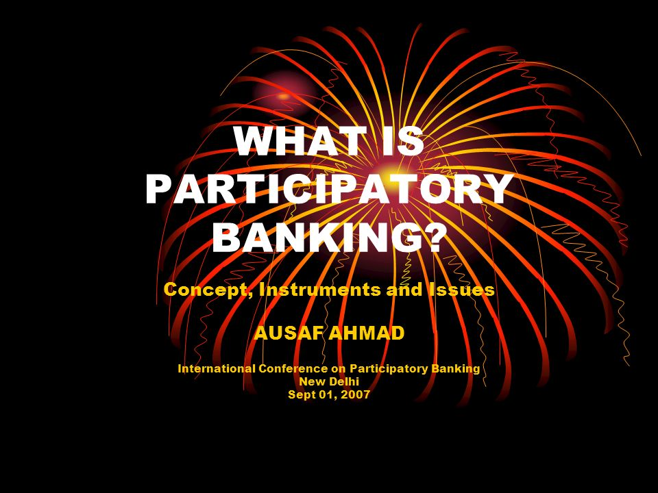 WHAT IS PARTICIPATORY BANKING
