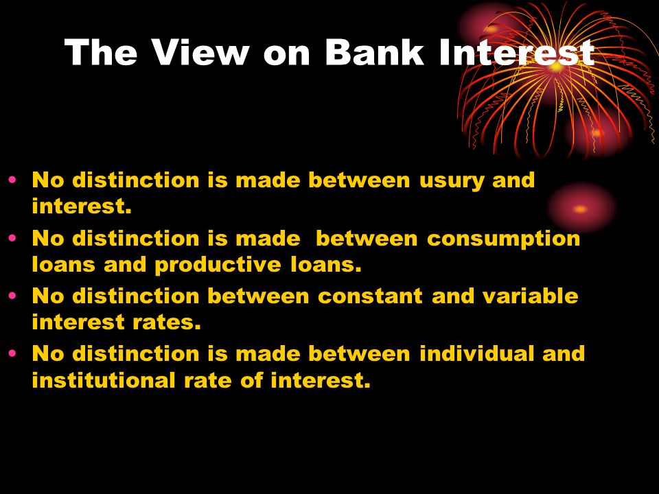 The View on Bank Interest