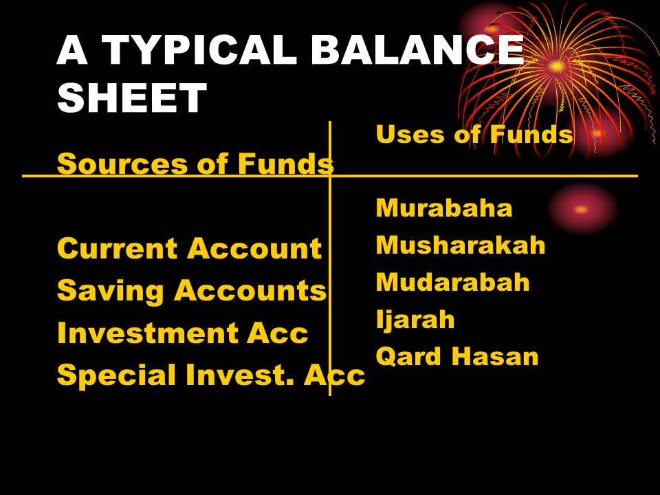A TYPICAL BALANCE SHEET