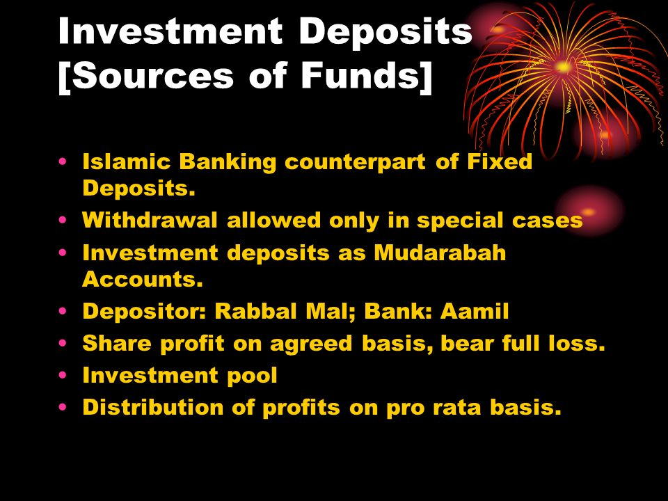 Investment Deposits [Sources of Funds]