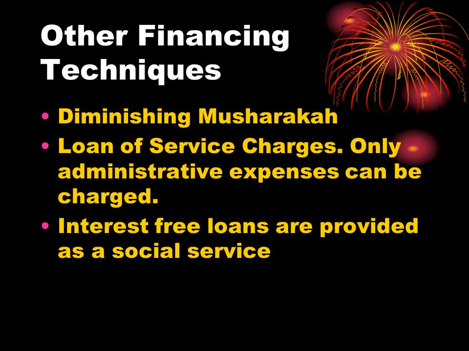 Other Financing Techniques