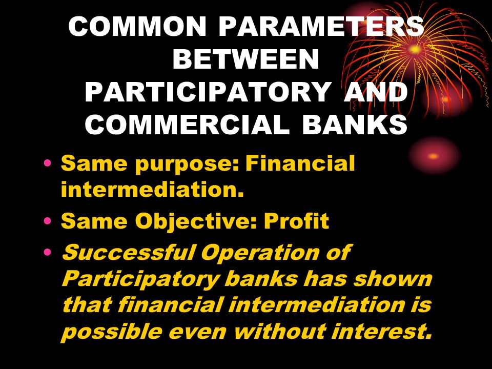 COMMON PARAMETERS BETWEEN PARTICIPATORY AND COMMERCIAL BANKS
