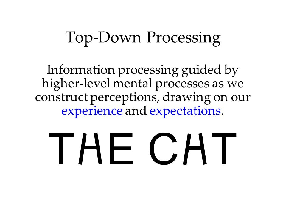 THE CHT Top-Down Processing