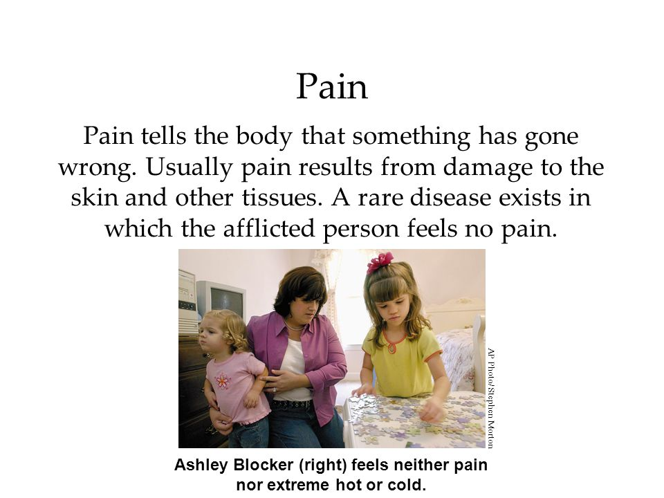 Ashley Blocker (right) feels neither pain