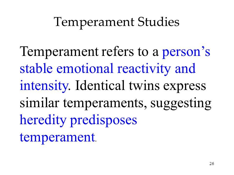 Temperament Studies