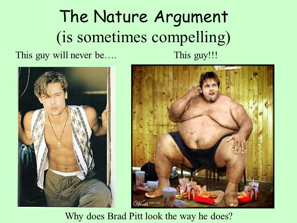 The Nature Argument (is sometimes compelling)