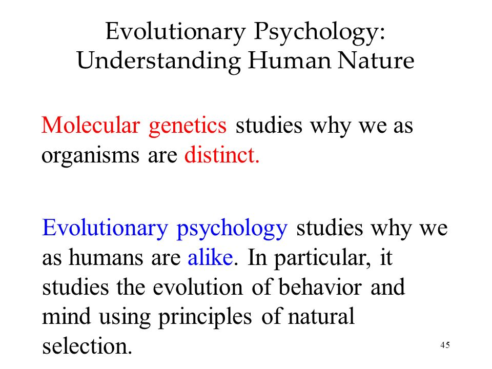 Evolutionary Psychology: Understanding Human Nature