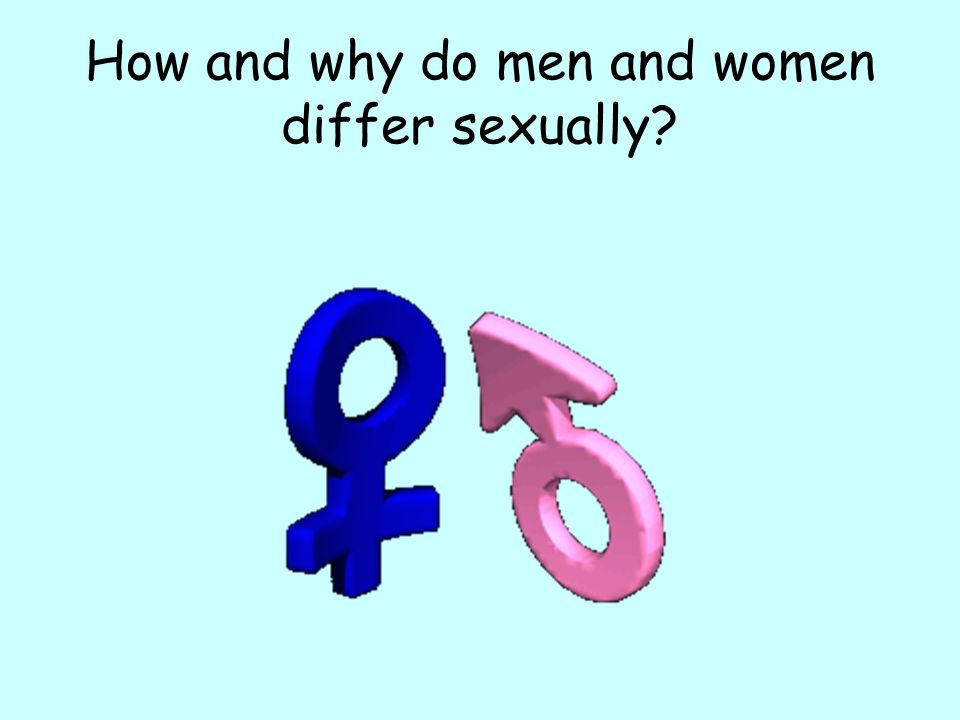 How and why do men and women differ sexually