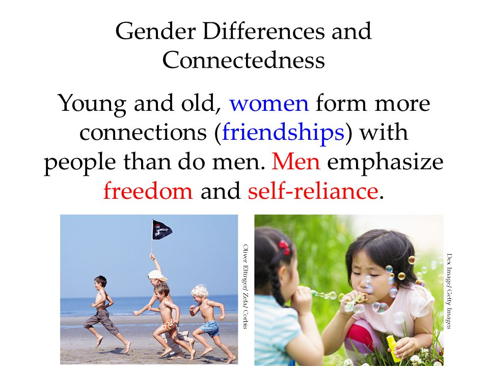 Gender Differences and Connectedness