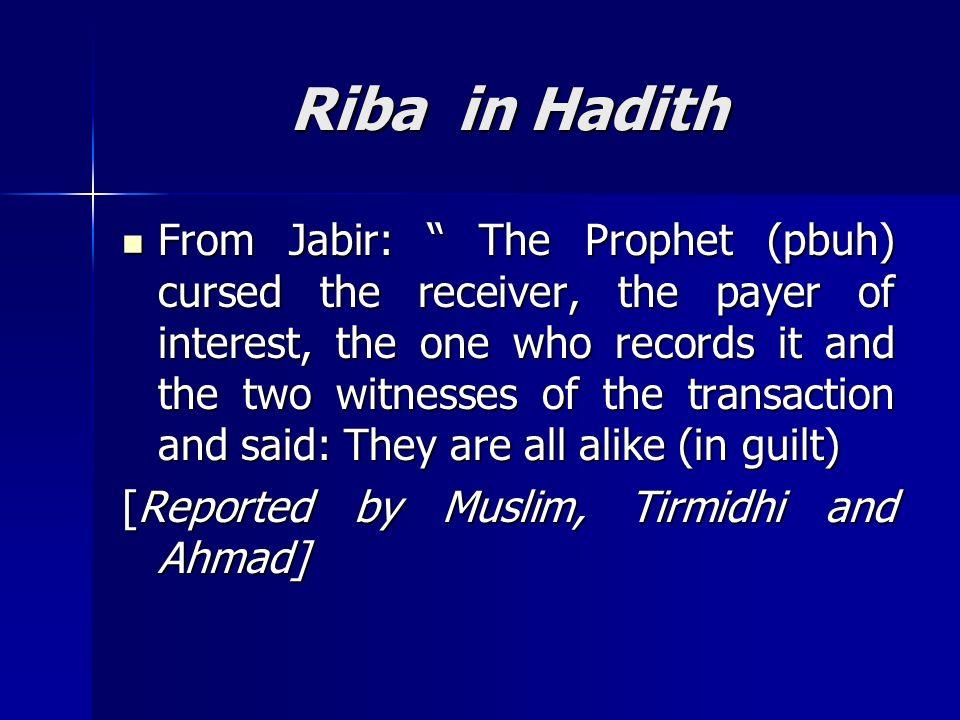 Riba in Hadith