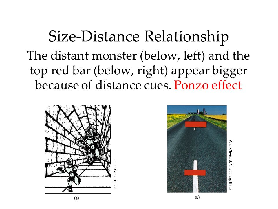 size and distance relationship