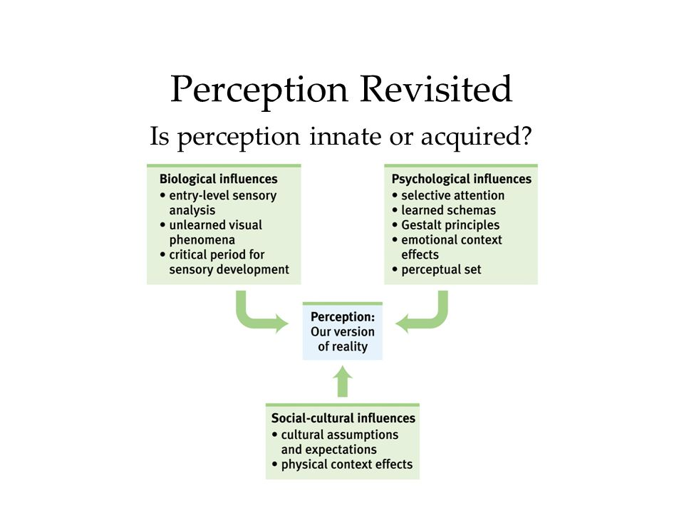 Is perception innate or acquired