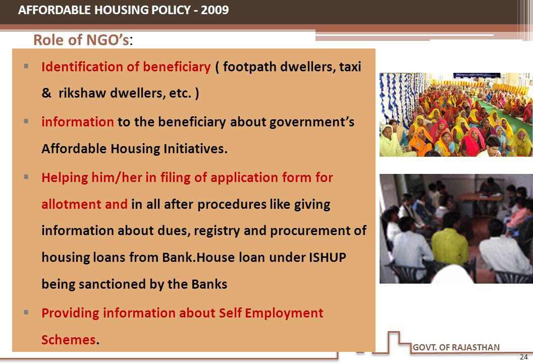 AFFORDABLE HOUSING POLICY - 2009