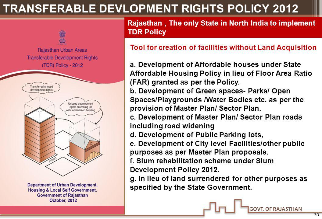 Tool for creation of facilities without Land Acquisition