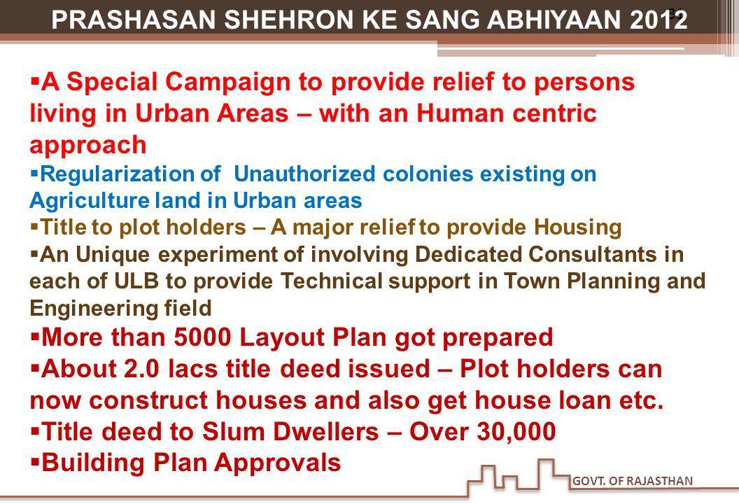 PRASHASAN SHEHRON KE SANG ABHIYAAN 2012