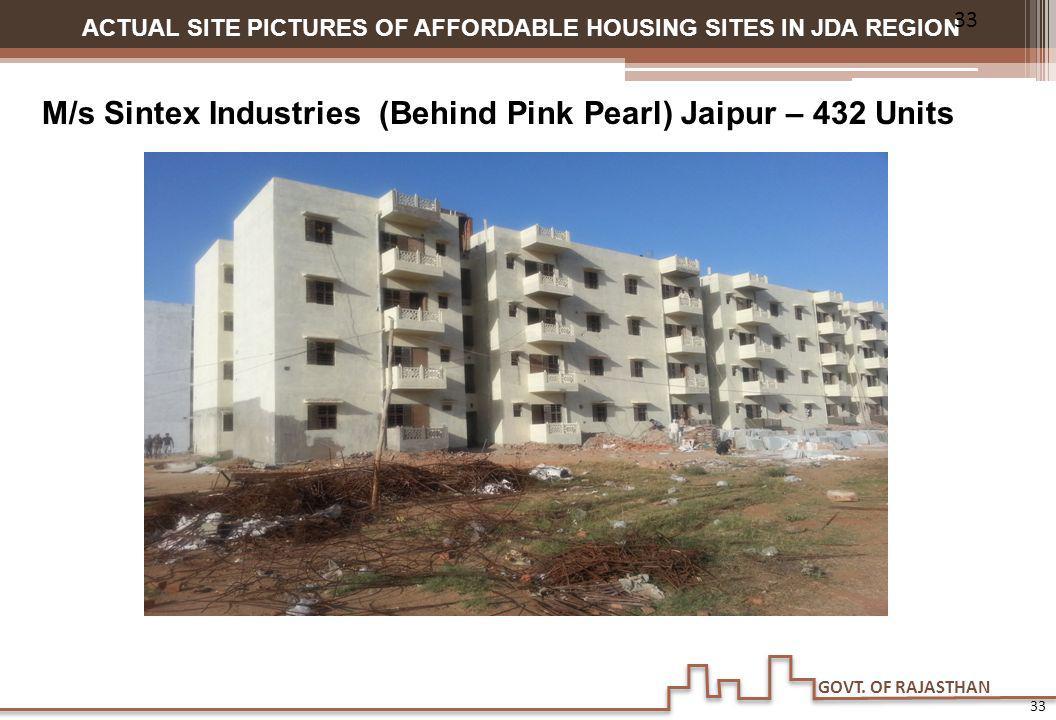 M/s Sintex Industries (Behind Pink Pearl) Jaipur – 432 Units