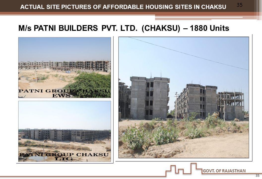 M/s PATNI BUILDERS PVT. LTD. (CHAKSU) – 1880 Units
